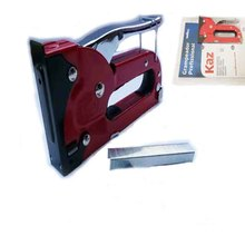 Grampeador Profissional RED STAPLE GUN HEAVY DUTY HAND UPHOLSTERY 4-8MM TACKER STAPLER CABLE DIY METAL SQUARE PINS NAILS