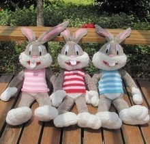 1.8m plush toy, doll Bugs Bunny baby doll, sweater paragraph birthday Valentine's Day gift