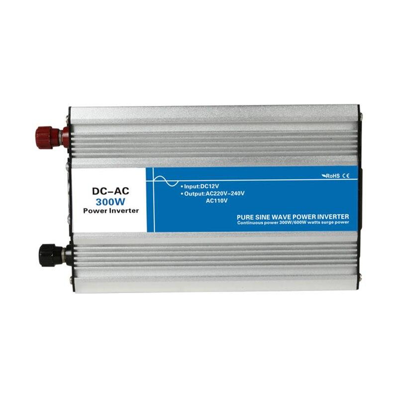 Power 300W Input DC 12V 24V 48V to Output AC 110V 220V Pure Sine Wave off Grid Tie Inverter custom solar LED Display 12 220<br>