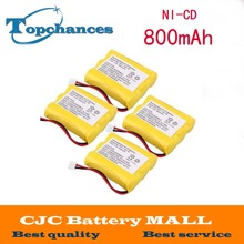 Details about 4 pcs Home Phone Battery for Radio Shack 23-298 43-3505 ET-1110 ET-3506 New