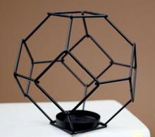 10 pieces Black Creative Table Decoration Metal Frame Geometric Votive Candle Holder