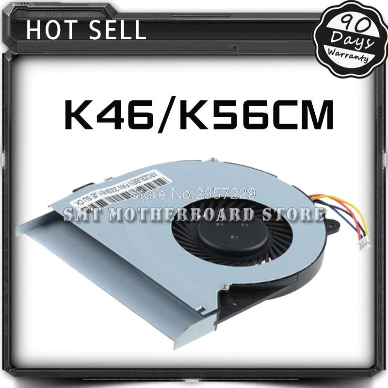 For Asus K56C A46C A56C S56C S46C K46CB K56CB K46CM K56CM K46CA K56CA Cooling Fan Heat Sink Laptop CPU Radiator Cooler Tested