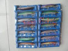 Sample Set (23 pcs) for Supper Long-Bow  Plastic  Fishing Lure(M145S) Enjoy  Retail Convenience at Wholesale Price