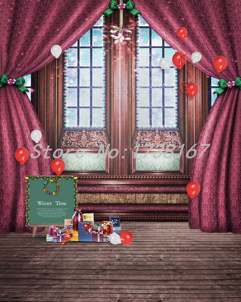 2015 New Newborn  Photography Background Christmas Vinyl  Backdrops 200cm *300cm Hot Sell Photo Studio Props Baby L845<br>