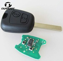 2 Buttons Remote Key For Peugeot 307 434mhz With Electronic ID46 Chip (VA2 Blade Without Groove)(China)