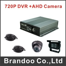 720P CAR DVR kit with 2 cameras recording, including DVR+1 inside camera+1 outside camera+2 video cables