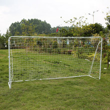 Lixada 12x6 FT Soccer Goal with PE Net Sports Large Soccer Goal Fastener Tape Iron Frame Outdoor Sports Ball Goals 3.6 * 1.8m(China)