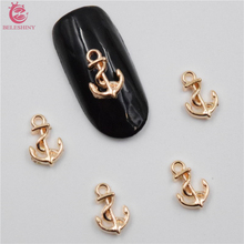 Buy 50Pcs new Gold anchor nail stickers, 3D Metal Alloy Nail Art Decoration/Charms/Studs,Nails 3d Jewelry nail supplies BY029 for $1.34 in AliExpress store