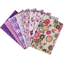 2017 New Felt Sewing 8pcs 25X25cm Cotton Fabric Purple the Cloth Point Bar For Diy Patchwork Fabrics And Crafts Clothing