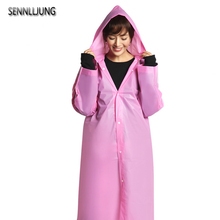 SENNLLJUNG Universal Raincoat Women Men EVA Travel Rain Poncho Rainwear Cover NOT Disposable Waterproof Camping Hooded Raincoat(China)