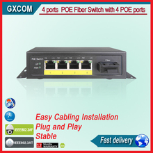 4 ports POE Fiber Switch with 4 POE ports ,Power to IP Camera and Wireless AP,stable and affordable(China)