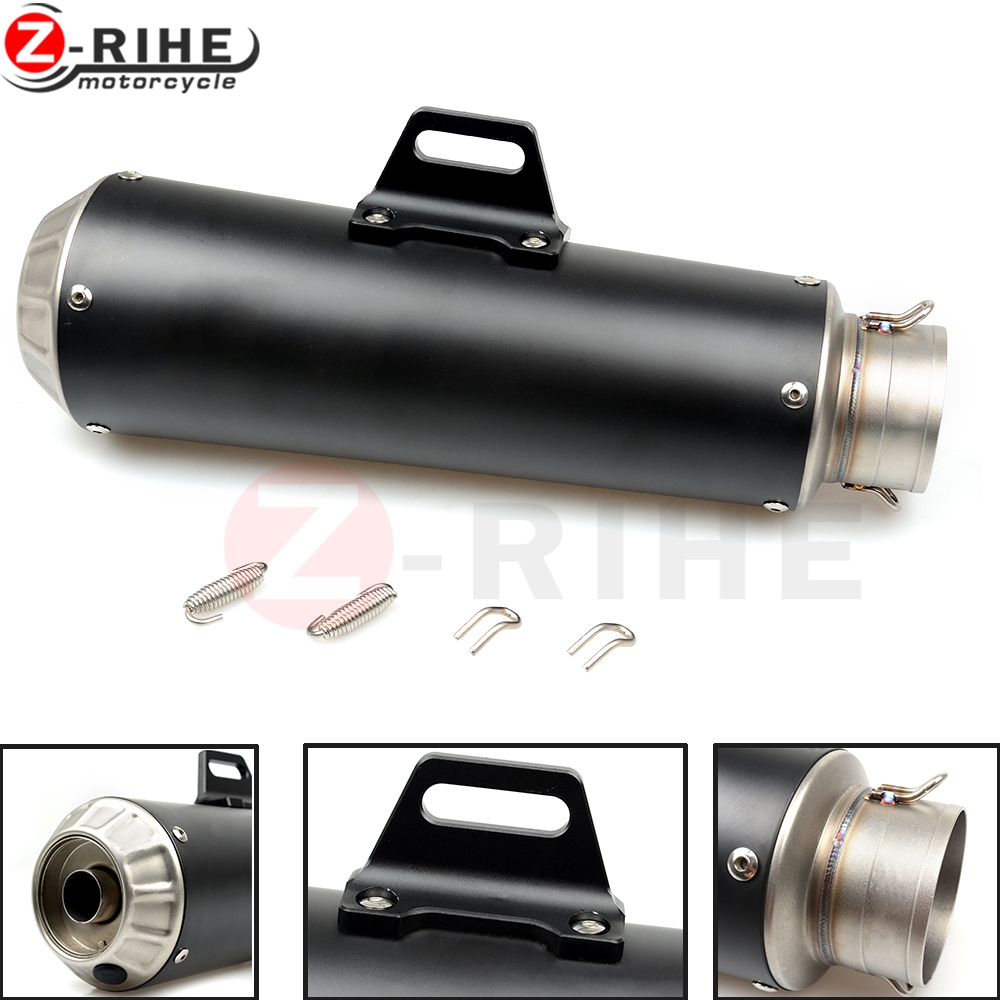 For 51mm Motorcycle Exhaust Pipe Scooter Modified Muffler Pipe Universal for Honda RVT1000 RVT CB400 CB650 CB500X NC750X CB1000R