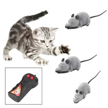 Hot Wireless Remote Control RC Electronic Rat Mouse Mice Toy Funny Playing Toys For Cats Kitten Dogs(China)