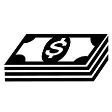 17.1cm*7.8cm Stack Of Money Bills Dollars Car Sticker Motorcycle Decal Vinyl Black/Silver S3-6862