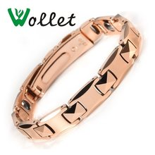 Wollet Jewelry Health Care Healing Energy Tungsten Bracelet Bangle For  Women Men Rose Gold Color Solid Germanium Hematite 754095006e28