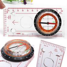 1Pcs Portable Map Compass Ruler Scale Baseplate for Climbing Hiking Camping Boating Fishing