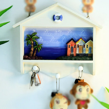 Marine Wind Coat Hanger Hook on the Wall Ornaments 3 Style Three-dimensional Painting Do old Mediterranean