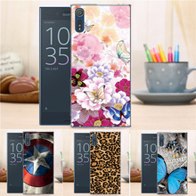 New Cartoon Fashion Hard Case for Sony Xperia XZ F8332 Flower Crown Tower Pattern Case Cover For Sony Xperia XZ F8332
