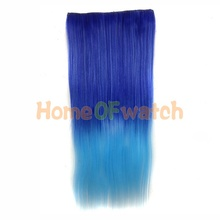 60cm Ombre Hair Extensions style Ladies Long Straight Bouncy Multi-colored Cosplay Hair (NWG0HE60731-QEE)