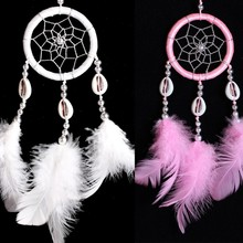 Wall Hanging Decoration Dream Catcher Circular With Feathers Dreamcatcher(China)