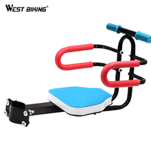 WEST BIKING 2.5-7 Years Bike Children's Front Saddle Handlebar Electric Bicycle Mountain Bike Armrest Kids Front Safety Seat Mat