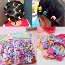 LNRRABC 50pcs/Pack Children Elastic Hair Bands Kids Hair Ties Baby Rubber Band Headdress Girls Flower Headwear Hair Accessories
