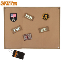 EXCELLENT ELITE SPANKER Tactical Hunting Badge Board Folding Mat Sticker Holder For Army Morale Patch Post Badge Accessories(China)