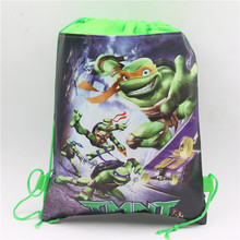 Baby Shower Ninja Turtle Cartoon Non-Woven Fabric Drawstring Bags Lego Backpack Birthday Party Decoration for kid boy mochila