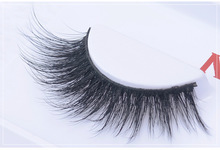 Free shipping fashion style luxury 100% real mink strip lashes vegas 3D lashes natural long soft mink lashes L12
