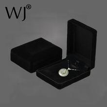 Hot Sale Black Velvet Bride Wedding Bride Jewelry Necklace Pendant Box Gift Colar Earrings Trinket Display Case Holder Organizer(China)