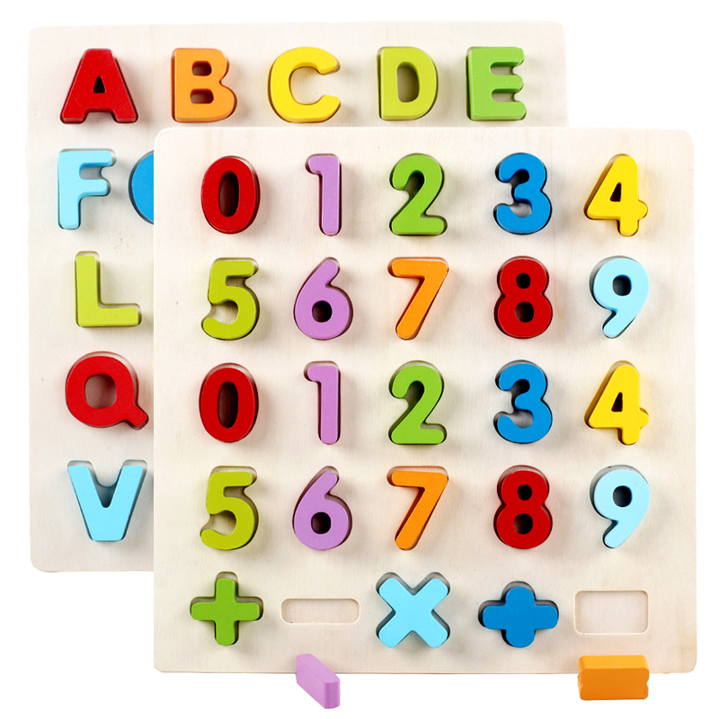 Figure Blocks Educational Baby Early Childhood Math Toy For Intellectual Development Of Children For 1--6y Alphabet Learning <br><br>Aliexpress
