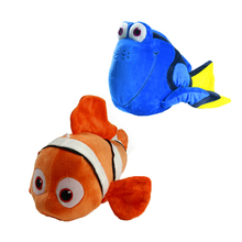 "NEW Finding Dory 20cm 8"" Regal Blue Tang Finding Nemo 23cm 9"" Clownfish Stuffed Plush Toy With Sucker"