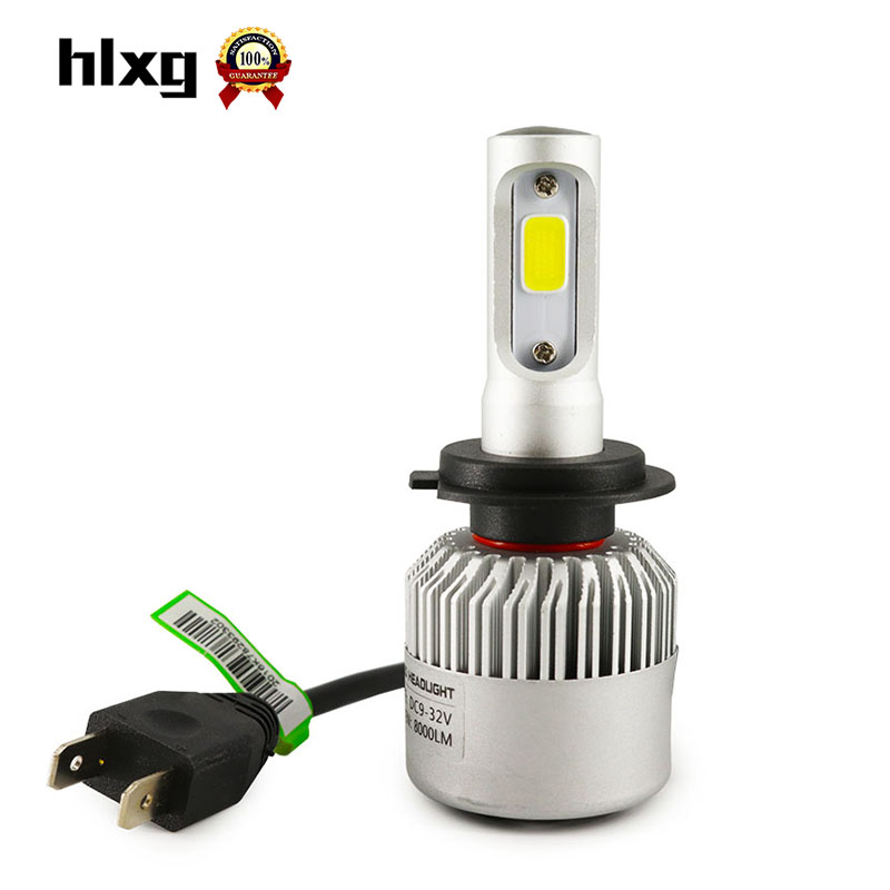 1Pair S2 36W 8000LM COB chips H7 Led Car Headlights Hi Lo Beam 6500K Pure White Super Bright All in One Auto Automobiles Bulbs<br><br>Aliexpress