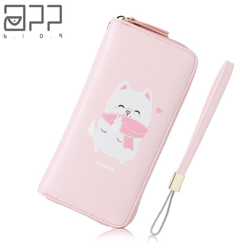 APP BLOG Brand Original Cute Cat Womens Wallet Coin Purse 2017 Wallets Clutch Phone Bag Carteira Feminina Mujer Girl Female <br>