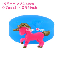 DYL404 24.4mm Unicorn Flexible Silicone Mold - Animal Mold Sugarcraft Cake Topper, Fondant, Resin Jewelry Making, Gum Paste Mold