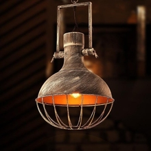 Industrial Restor Pendent Lights Lamp Pot Wrought Iron(China)