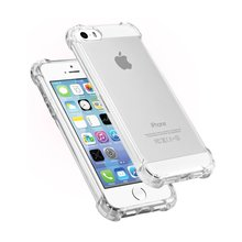 Soft TPU Crystal Clear Drop Protection Case For iPhone 7 Plus 6S 6 Plus iPhone 5S 5 SE Air Cushion Corner Protective Case