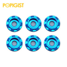 POPIGIST Aluminum Colored Screw Gasket  Orz Gasket Custom Parts For Tamiya MINI4WD Aluminu Colored Screw Gasket S002  20Pcs/lot
