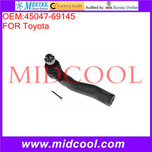 High Quality Auto Parts Front Axle Left Outer Steering Tie Rod End OEM:45047-69145(China)