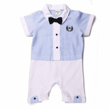 2017 Baby Rompers Fashion Short Sleeve Formal Style Newborn Baby Rompers for Boys Children's Rompers for party Suit for 80-95CM