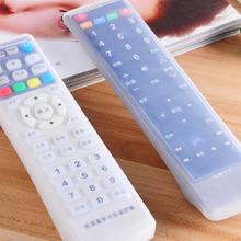 Peerless 2 pcs Skin Waterproof Pouch Silicone Pencil Bags Clear TV Air Condition Remote Controller Protector Case Cover(China)