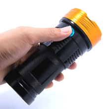 20000 lumens light King 10T6 LED flashlamp 10 x XM-L T6 LED Flashlight Torch Lamp Light For Hunting Camping(China)