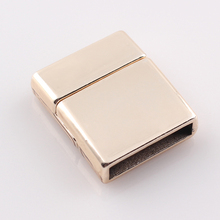 European hot design bracelet buckle leather bracelet clasp metal magnetic clasp rectangle jewelry clasps JJAL C80