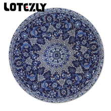 Fashion Persian Carpet Styles Round Black Mouse Pad Best Soft Gaming Mousemat Computer Games Speed Desk Mice Mats