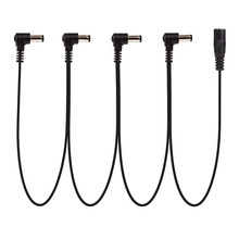 Daisy Chain 1 to 4 Ways Guitar Effects Pedal Power Supply Cable for 9V DC Adapter Plug(China)