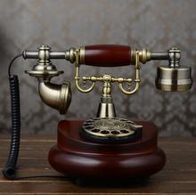 Vintage antique style antique telephone European style retro rotary metal dial dial telephone Decoration home classical phone(China)