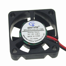 Gdstime 2PCS DC 12V 2Pin 30mm 30x30x10mm 3cm Computer PC Chipset VGA Video 3010s 2 wire Black Cooling Fan