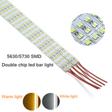 10pcs Super Bright Hard Rigid LED Bar light Double Chip DC12V 50cm 14.4W SMD 5630/5730 Aluminum Alloy Led Strip light For Home