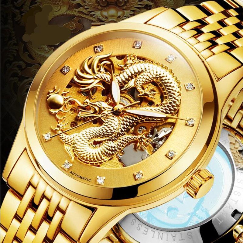 Free Shipping Men Wristwatch 2017  FNGEEN Brand Fashion Business New Luxury Automatic Men Mechanical Watch<br>