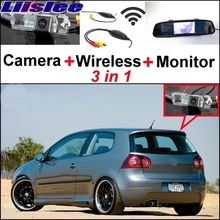 Liislee For Volkswagen VW Golf Rabbit Special Rear View Wifi Camera + Wireless Receiver + Mirror Monitor Easy DIY Parking System